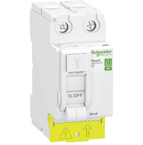 SCHNEIDER ELECTRIC - Resi9 XP - interrupteur différentiel - 2P - 25A - 30mA - Type AC - peignable - alim bas - ref - R9PRC225