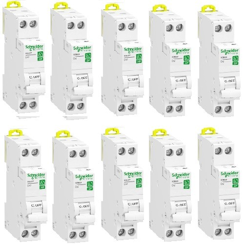 LOT - SCHNEIDER ELECTRIC - 10 Disjoncteurs Rési9 XP - 1Ph+N - 32A - C - REF R9PFC632