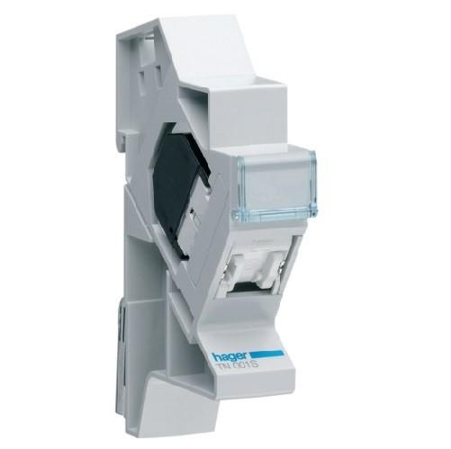 HAGER - Connecteur RJ45 cat.5e FTP + support - REF - TN001S