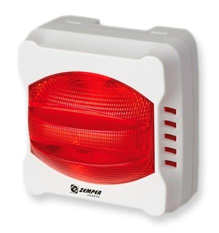 ZEMPER - Diffuseur lumineux rouge - Réf - DSL1707