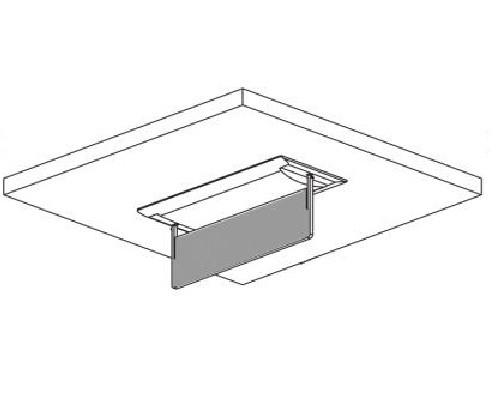 ZEMPER - Porte étiquette encastré plafond - Réf - 90091NM