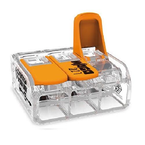 WAGO - Boite de 30 Mini-borne d\'installation universelle -3x6mm2 - Ref - 221613