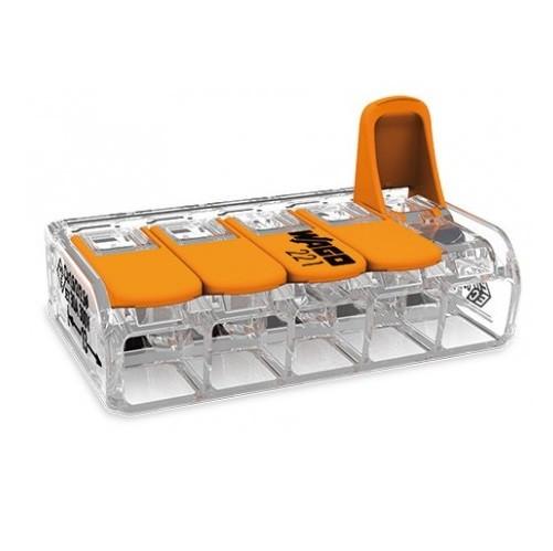 WAGO - Boite de 15 Mini-borne d\'installation universelles -5x6mm2 - Ref - 221615