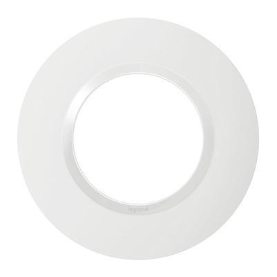 LEGRAND - Plaque Ronde Dooxie 1 poste finition blanc - REF 600980
