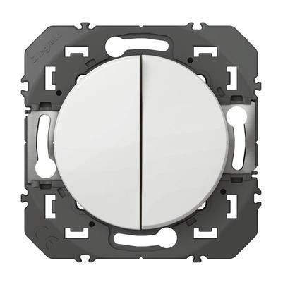 LEGRAND - Poussoir double dooxie 6A 250V~ finition blanc- REF 600008