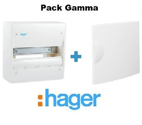 HAGER - Pack Gamma Coffret + Porte - 13 modules 1 rangée