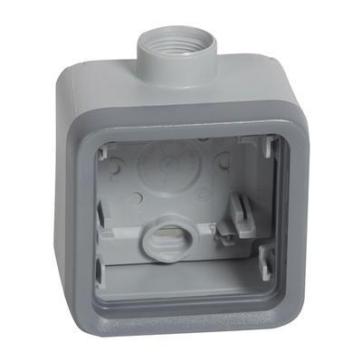 LEGRAND - Boîtier Etanche à presse - étoupe 1 poste PG16 Plexo composable IP55 - gris - REF 069652