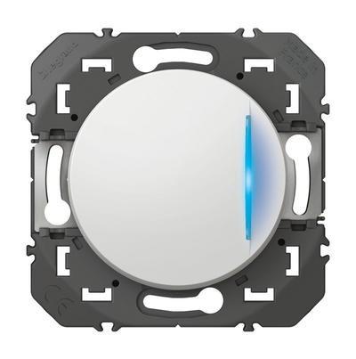 LEGRAND - Interrupteur ou va-et-vient avec voyant témoin dooxie 10AX 250V~ blanc - REF 600009