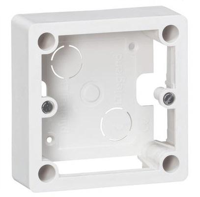 LEGRAND - Cadre saillie 1 poste pour socle et sortie de câbles 100x100x36mm - Réf - 055849