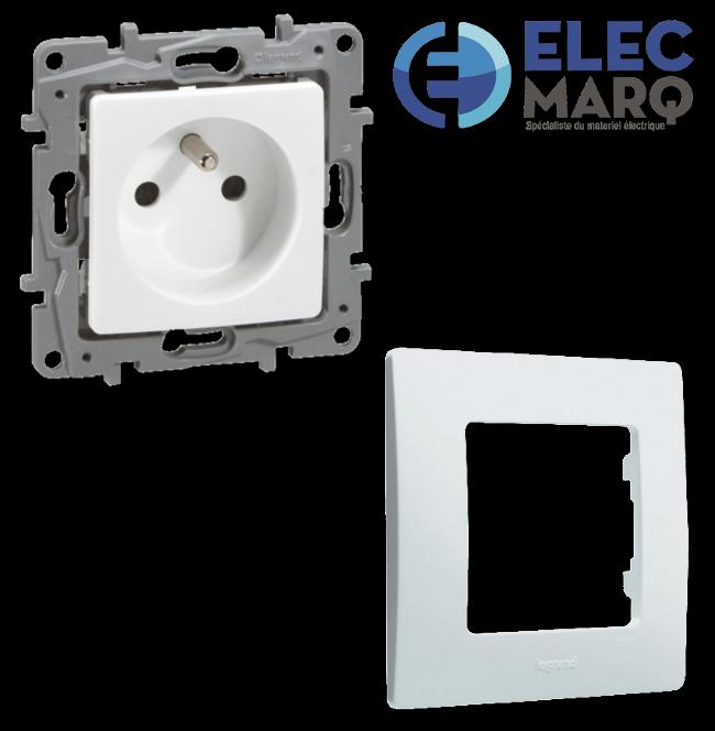 Les Complets LEGRAND NILOE - Prise 2P + T 16A  avec Elecmarq -Elec4