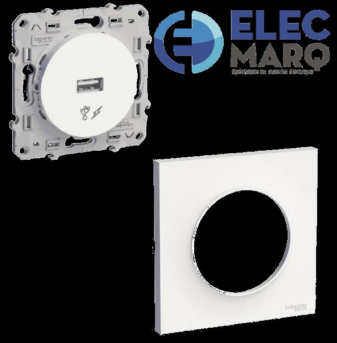 Les Complets SCHNEIDER Odace La prise Simple chargeur USB avec Elecmarq