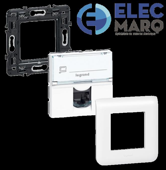 Les Complets LEGRAND Mosaic Prise RJ45 Cat. 6 FTP - 2 mod avec Elecmarq - Elec15