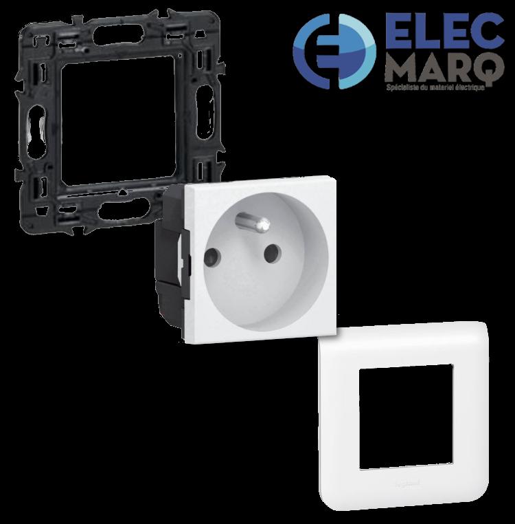 Les Complets LEGRAND Mosaic la Prise 2P + T - 2 Mod avec Elecmarq - Elec 2