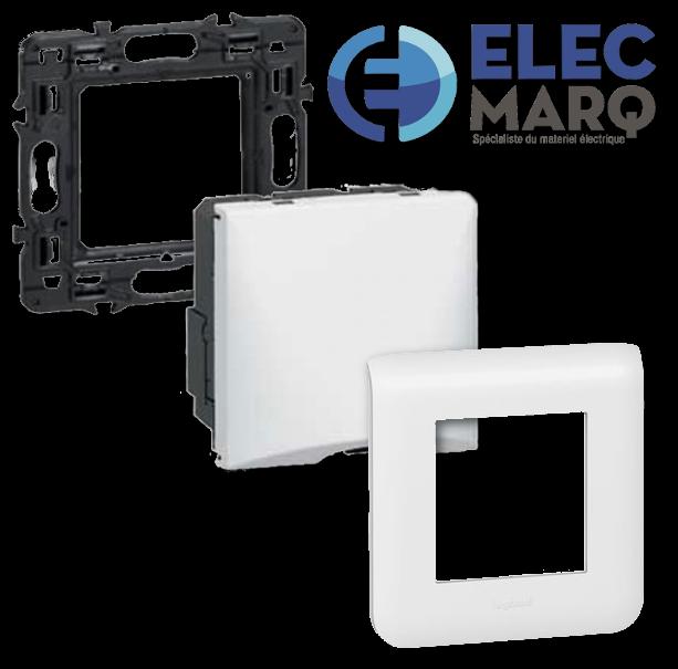 Les Complets LEGRAND Mosaic - Sortie de câbles avec serre-câbles - 10A - 2 mod avec Elecmarq - Elec26