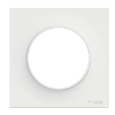 SCHNEIDER ELECTRIC - Odace Styl, plaque de finition Blanche 1 poste - Réf S520702