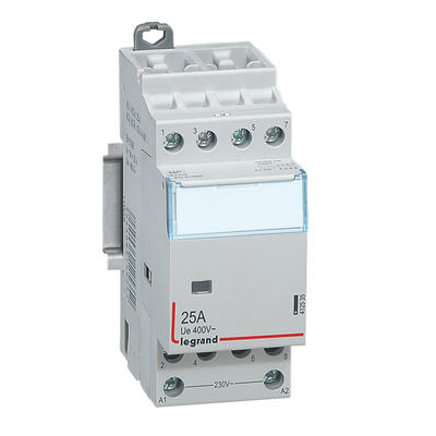 LEGRAND Contacteur de puissance CX³ bobine 230V~ sans commande manuelle - 4P 400V~ - 25A - contact 4F - 2 modules Réf 412535