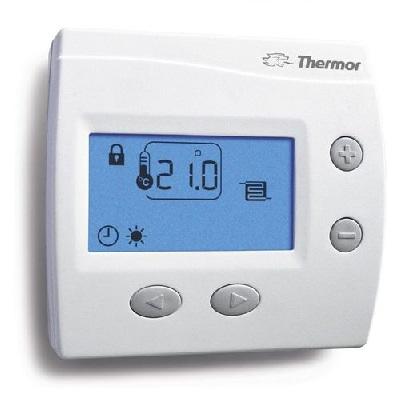THERMOR Thermostat d\'ambiance digital KS pour plancher chauffant électrique - Blanc Réf 400104