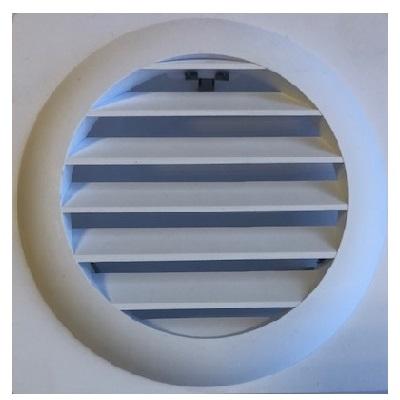 NATHER Grille plastique MV - Blanc - Pour Aérateur Ø 125- Réf - 549086