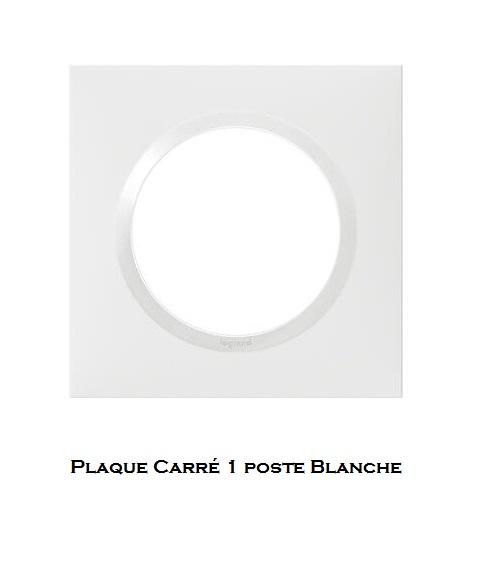 legrand dooxie plaque carre blanche