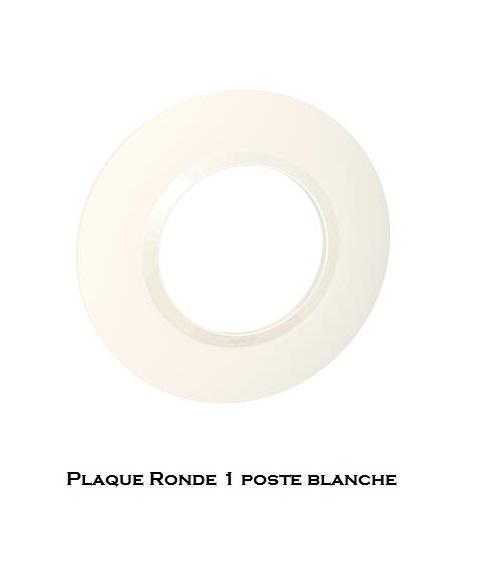 legrand dooxie plaque ronde blanche