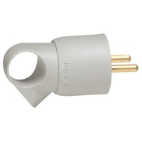 LEGRAND - Fiche plastique 2P+T 16A à anneau - gris - Réf - 050424