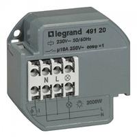 LEGRAND - Télérupteur 1P - 10 AX - 230 V~ - 50/60 Hz - intensité max acceptée 50 mA - REF 049120