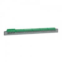 LEGRAND - Bornier de répartition IP 2X - terre - 5 connexions 6 à 25 mm - vert - L 332 mm - REF 405057