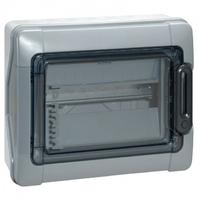 LEGRAND - Coffret Plexo 12 modules avec embouts à perf. directe - IP 65 - IK 09 - Gris - REF 001921