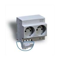 DIGITAL ELECTRIC - Prise de courant modulaire double 2 x 2P+T 16A 250V à éclips - REF 04564