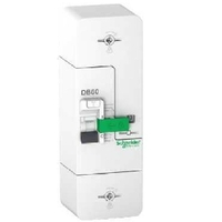 SCHNEIDER ELECTRIC - Disjoncteur de branchement - DB60 - 1P+N - 30/45/60A - 500 mA -  REF R9FT660
