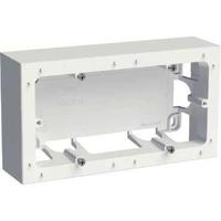 SCHNEIDER ELECTRIC - Odace Styl, boîte pour montage en saillie Blanc, 2 postes entraxe 71mm - REF S520764