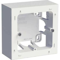 SCHNEIDER ELECTRIC - Odace Styl, boîte pour montage en saillie Blanc, 1 poste - REF S520762