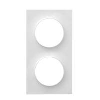 SCHNEIDER ELECTRIC - Odace Styl, plaque Blanc 2 postes horizontaux ou verticaux entraxe 71mm - REF S520704