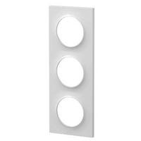 SCHNEIDER ELECTRIC - Odace Styl, plaque Blanc 3 postes horizontaux ou verticaux entraxe 71mm - REF S520706