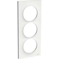 SCHNEIDER ELECTRIC - Odace Styl, plaque Blanc 3 postes verticaux entraxe 57mm - REF S520716