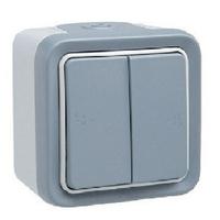 LEGRAND - Double va-et-vient Prog Plexo complet saillie gris - 10 AX - REF 069715
