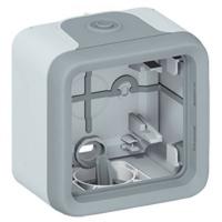 LEGRAND - Boîtier à embouts Prog Plexo composable - 1 poste - gris - REF 069651