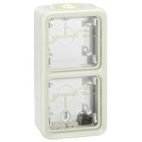 LEGRAND - Boîtier à embouts Prog Plexo composable blanc - 2 postes verticaux - REF 069691