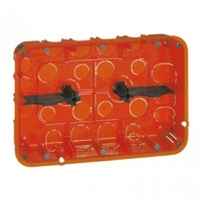 LEGRAND - Boîte multimatériaux Batibox - grand format - 2x3 postes / 2x6/8 mod - prof 50 - REF 080126
