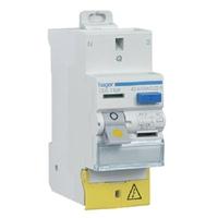 HAGER - Interrupteur Différentiel. 2P - 40A 30mA Type AC SanVis - Ref CDS742F