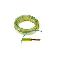 MIGUELEZ - Fil électrique rigide HO7VU 1.5 vert/jaune Couronne de 100m - REF Cab15V/J