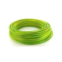 MIGUELEZ - Fil de câblage rigide H07VU 2.5 Vert/Jaune - REF Cab25v/j