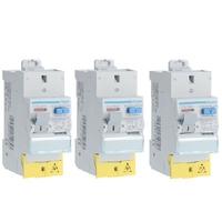 LOT HAGER - 3 Interrupteurs différentiels Sans vIs - Bipolaire Type A - 63A - Ref CDS765F