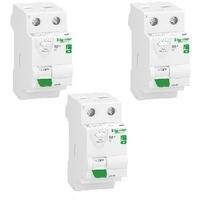 LOT - SCHNEIDER ELECTRIC - 3 Interrupteurs Différentiels - AUTO - 63A Ref R9ERC263
