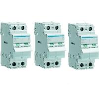 LOT - HAGER - 3 Interrupteurs-sectionneurs - 2P - 63A - Ref SBN263