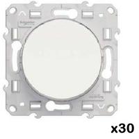 LOT - SCHNEIDER ELECTRIC - 30 Va-et-Vient Odace - Blanc - 10 A - à vis ref  S520204