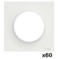 LOT - SCHNEIDER - 60 plaques Blanc Odace - 1 Poste ref S520702
