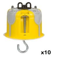LOT - LEGRAND - 10 Boîtes point de centre DCL Prog.Ecobatibox étanche à l'air - prof. 50 mm ref 089377