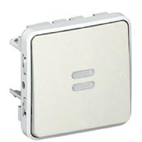LEGRAND - Poussoir NO lumineux Prog Plexo composable blanc - 10 A - Ref 069632