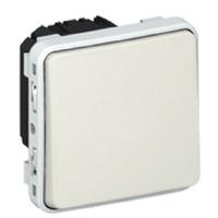 LEGRAND - Poussoir NO Prog Plexo composable blanc - 10 A - Ref 069630